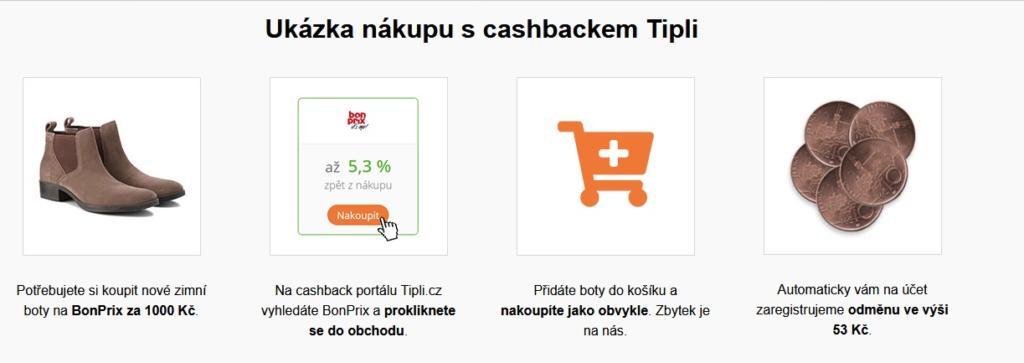 Tipli ukázka cashbacku